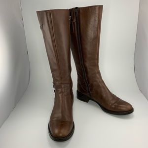 Ecco tall buckle brown boots